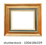 golden picture frame isolated | Shutterstock . vector #1006186339