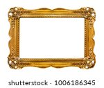 golden picture frame isolated | Shutterstock . vector #1006186345