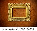 vintage frame on wall | Shutterstock . vector #1006186351