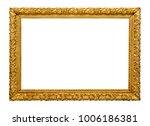 golden picture frame isolated | Shutterstock . vector #1006186381