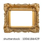 golden picture frame isolated | Shutterstock . vector #1006186429