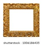 carved picture frame | Shutterstock . vector #1006186435