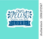 hand lettering trust in the... | Shutterstock .eps vector #1006192567