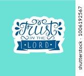hand lettering trust in the... | Shutterstock .eps vector #1006192567
