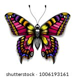 beautiful tattoo for your chest.... | Shutterstock .eps vector #1006193161