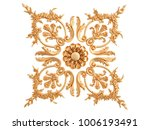 gold ornament on a white... | Shutterstock . vector #1006193491