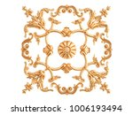 gold ornament on a white... | Shutterstock . vector #1006193494