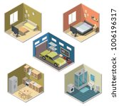 isometric interior vector... | Shutterstock .eps vector #1006196317