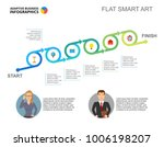 six stages startup slide... | Shutterstock .eps vector #1006198207