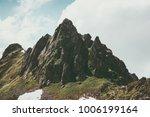 rocky mountains peak landscape... | Shutterstock . vector #1006199164