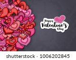 happy valentines day greeting... | Shutterstock .eps vector #1006202845