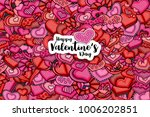 happy valentines day greeting... | Shutterstock .eps vector #1006202851
