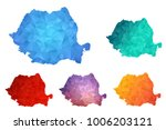 variety color polygon map on... | Shutterstock .eps vector #1006203121