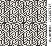 vector seamless lattice pattern.... | Shutterstock .eps vector #1006207819