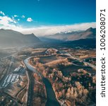 aerial panorama of the lower... | Shutterstock . vector #1006208071