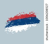 flag of serbia grunge brush... | Shutterstock .eps vector #1006208527