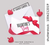 valentine envelope and gift... | Shutterstock .eps vector #1006212019