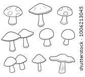 vector set of mushrooms | Shutterstock .eps vector #1006213045