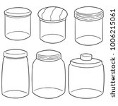 vector set of jars | Shutterstock .eps vector #1006215061