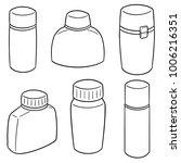 vector set of water bottle | Shutterstock .eps vector #1006216351