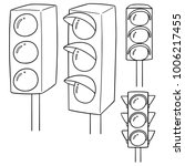 vector set of traffic light | Shutterstock .eps vector #1006217455