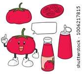 vector set of tomato and tomato ... | Shutterstock .eps vector #1006217815