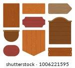 flat wooden plank signs. wood...   Shutterstock .eps vector #1006221595
