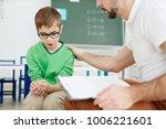 teacher supporting upset or... | Shutterstock . vector #1006221601