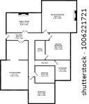 home floorplans drawn as vector ... | Shutterstock .eps vector #1006221721