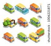 isometric car insurance set... | Shutterstock .eps vector #1006221871