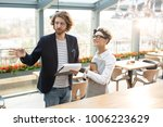 young revision manager with...   Shutterstock . vector #1006223629