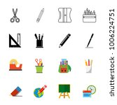 school supplies icon set | Shutterstock .eps vector #1006224751