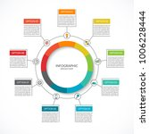 infographic cycle diagram.... | Shutterstock .eps vector #1006228444
