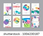 set of creative universal... | Shutterstock .eps vector #1006230187