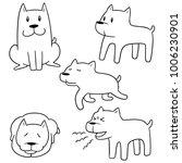 vector set of dog | Shutterstock .eps vector #1006230901