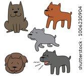 vector set of dog | Shutterstock .eps vector #1006230904