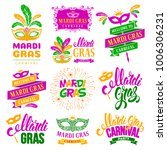 mardi gras carnival festive... | Shutterstock .eps vector #1006306231