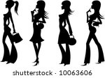 silhouettes of shopping women 5 | Shutterstock .eps vector #10063606