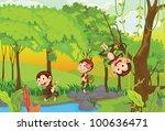 illustration of 3 cheeky...   Shutterstock . vector #100636471