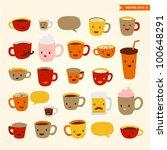 coffee cups | Shutterstock .eps vector #100648291