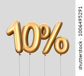 10  discount made of gold... | Shutterstock . vector #1006495291