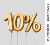 10  discount made of gold... | Shutterstock . vector #1006495291