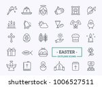 easter icons thin line. vector... | Shutterstock .eps vector #1006527511