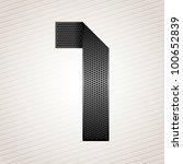 Number Metal Ribbon  1  One....