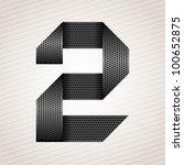 Number Metal Ribbon  2  Two....