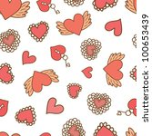 love valentine pattern | Shutterstock .eps vector #100653439