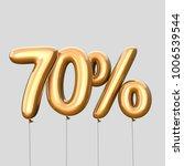 70  discount made of gold... | Shutterstock . vector #1006539544