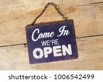 come in were open sign | Shutterstock . vector #1006542499