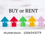 buy or rent home concept with... | Shutterstock . vector #1006543579