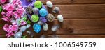 painted easter eggs with... | Shutterstock . vector #1006549759